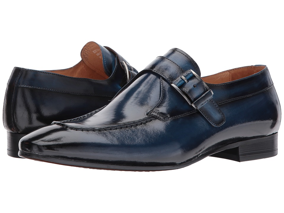 1960s Style Men's Clothing, 70s Men's Fashion Carrucci - Daniel Navy Mens Shoes $87.99 AT vintagedancer.com
