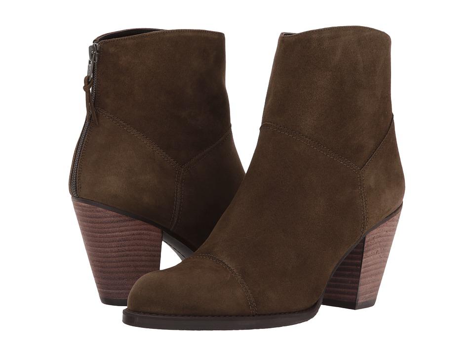 Image of Stuart Weitzman - Hippy (Olive Suede) Women's Shoes