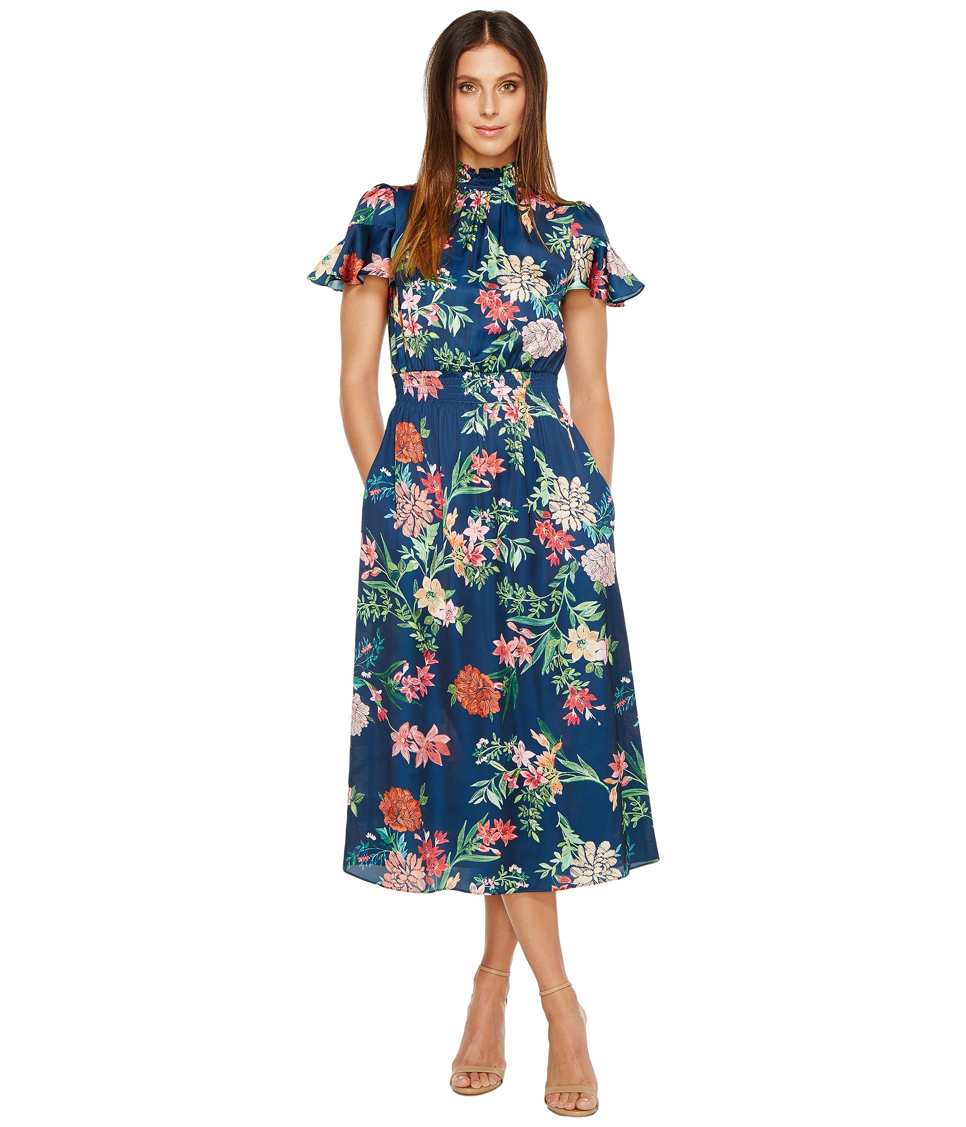 laundry by shelli segal laundry by shelli segal printed midi dress at zappos 12096