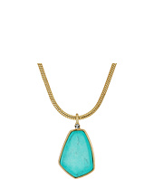 LAUREN Ralph Lauren - Turquoise and Caicos 16 in Large Stone Pendant Necklace