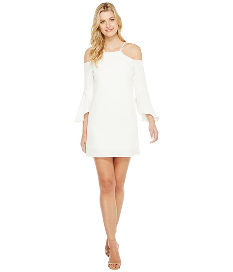 Laundry by Shelli Segal Crisscross Flutter Sleeve Cold Shoulder Cocktail Dress