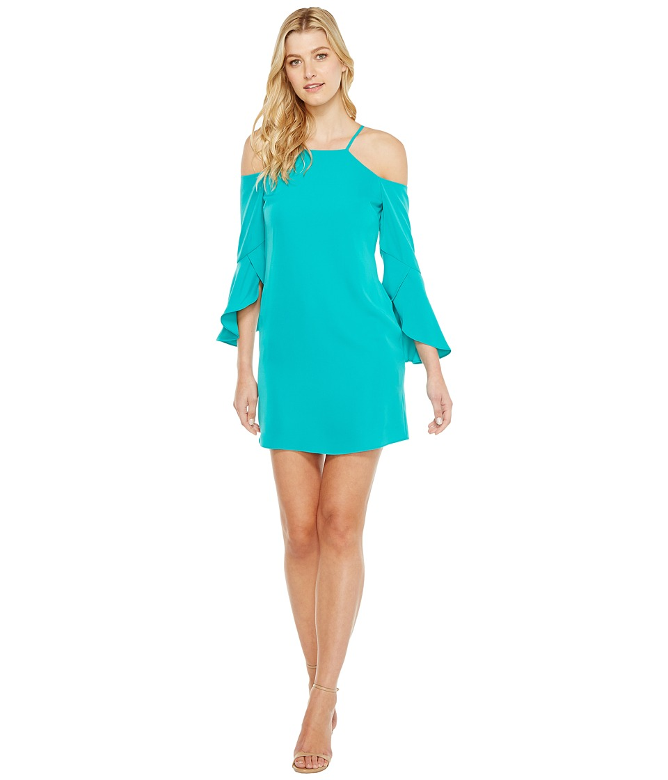 Laundry by Shelli Segal - Crisscross Flutter Sleeve Cold Shoulder Cocktail Dress