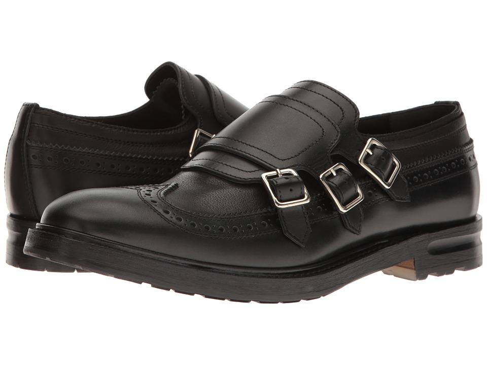 Alexander Mcqueen Florence 3 Buckle Monk Strap Shoe (Blac...