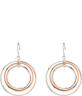 LAUREN Ralph Lauren - Stereo Hearts Small Round Bevel 4 Ring Gypsy Hoop Earrings