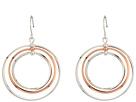 LAUREN Ralph Lauren Stereo Hearts Small Round Bevel 4 Ring Gypsy Hoop Earrings