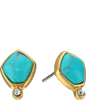 LAUREN Ralph Lauren - Turquoise and Caicos Stone Stud Earrings