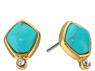 LAUREN Ralph Lauren - Turquoise and Caicos Stone Stud Earrings