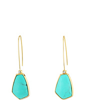 LAUREN Ralph Lauren - Turquoise and Caicos Elongated Wire with Stone Drop Earrings