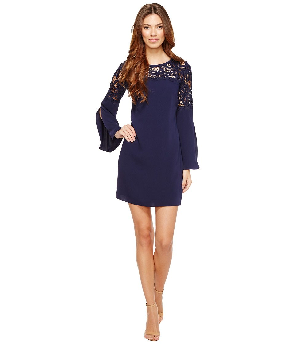 Laundry by Shelli Segal - Crepe Dress with Lace Detail