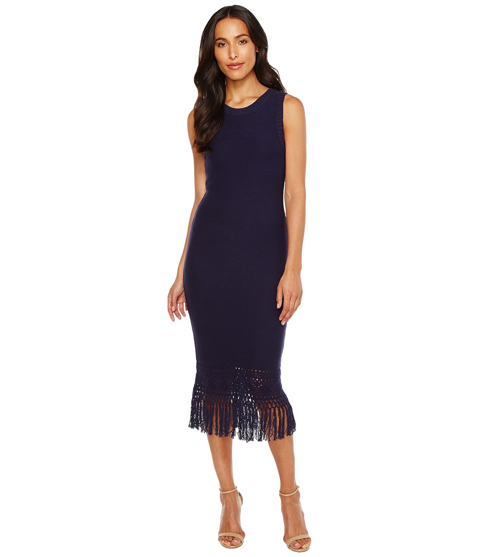 Laundry by Shelli Segal - Sweater Dress with Fringe Detail