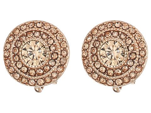 LAUREN Ralph Lauren Vintage Crystal Clip Stud Earrings - Crystal/Rose Gold