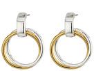 LAUREN Ralph Lauren Stereo Hearts Small Double Link Doorknocker Earrings