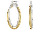 LAUREN Ralph Lauren Stereo Hearts Large Double Link Hoop Earrings