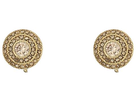 LAUREN Ralph Lauren Vintage Crystal Clip Stud Earrings - Crystal/Light Topaz/Gold
