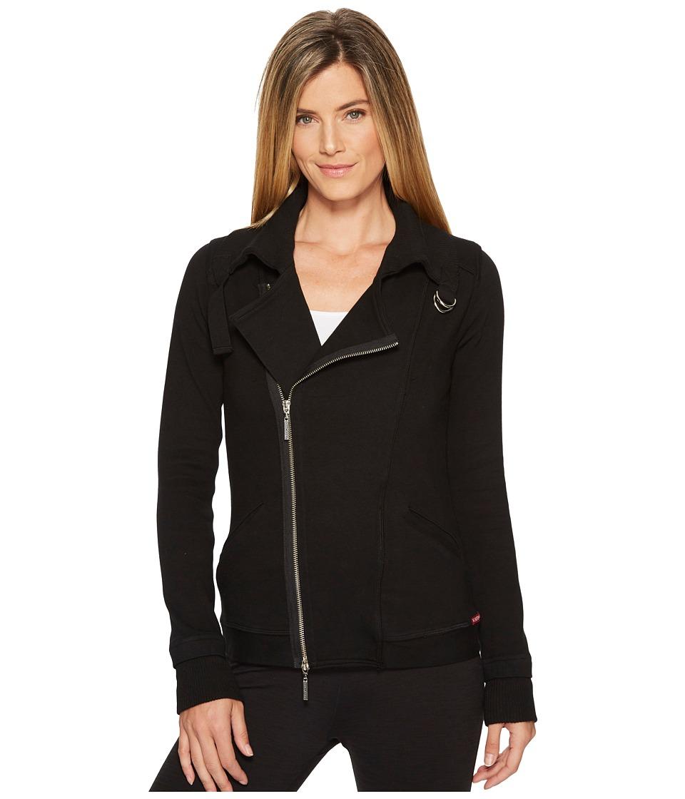 Hard Tail Split Collar Motocross Jacket (Black) Women