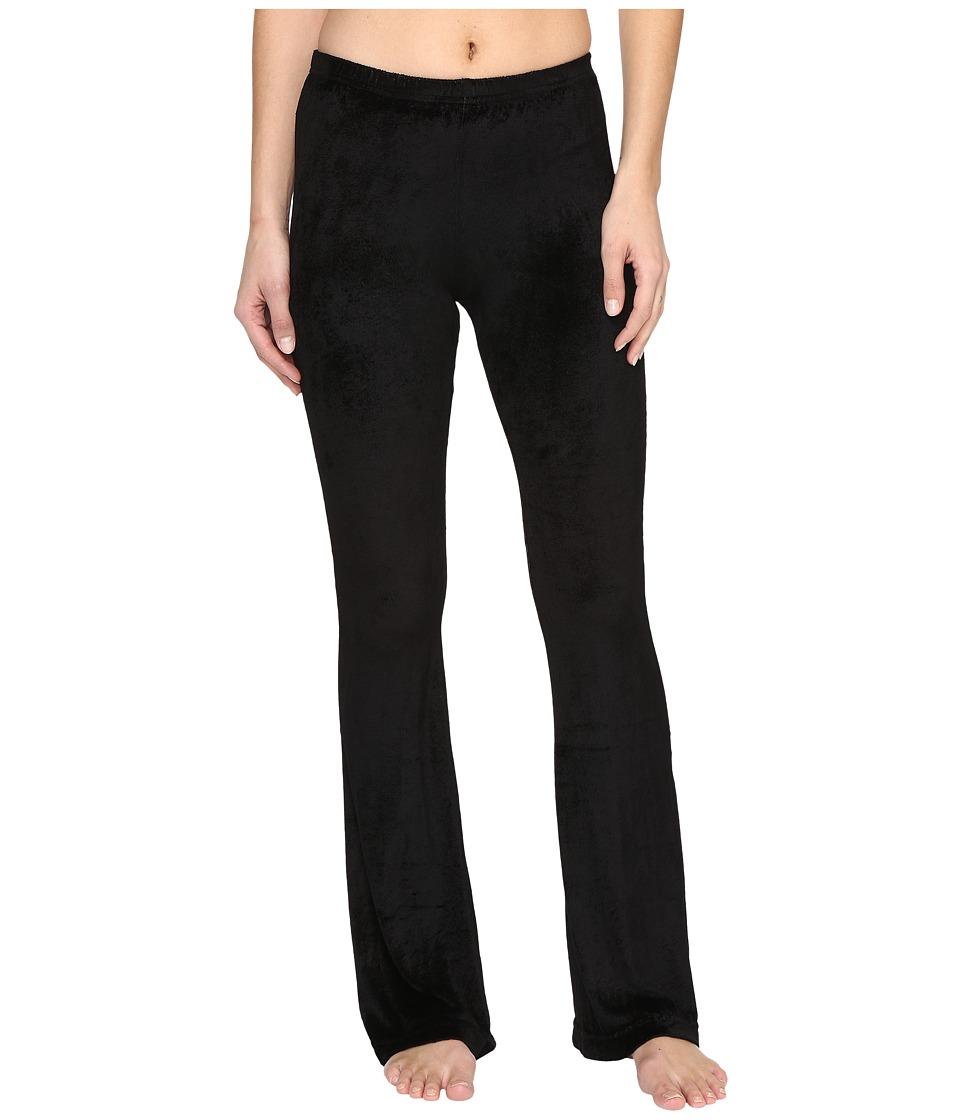 Hard Tail Flare Leg Shimmer Pants (Black) Women
