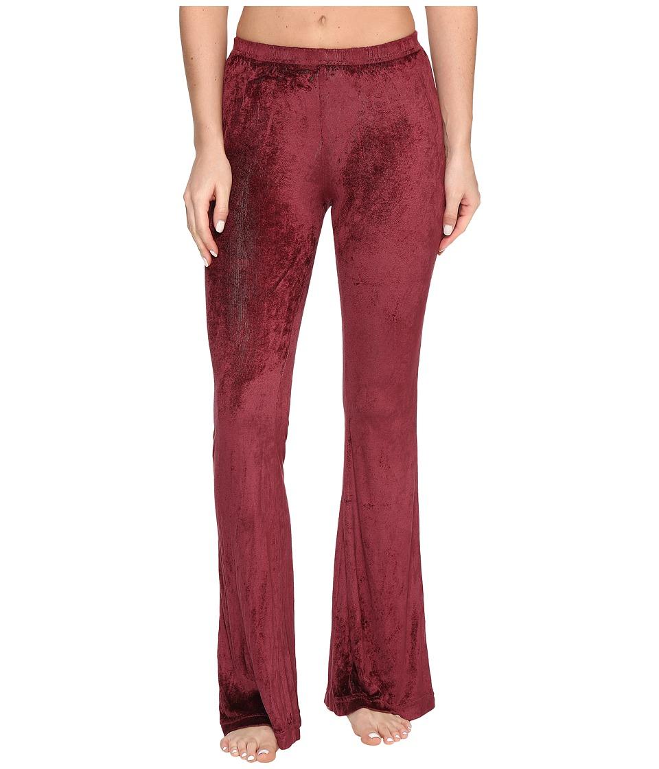 Hard Tail Flare Leg Shimmer Pants (Smokey Rose) Women