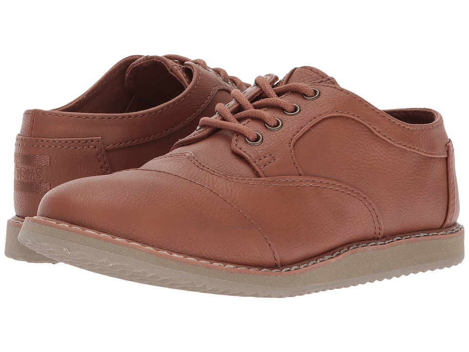 TOMS Kids Brogue (Little Kid/Big Kid) (Toffee Synthetic Leather) Boy's Shoes
