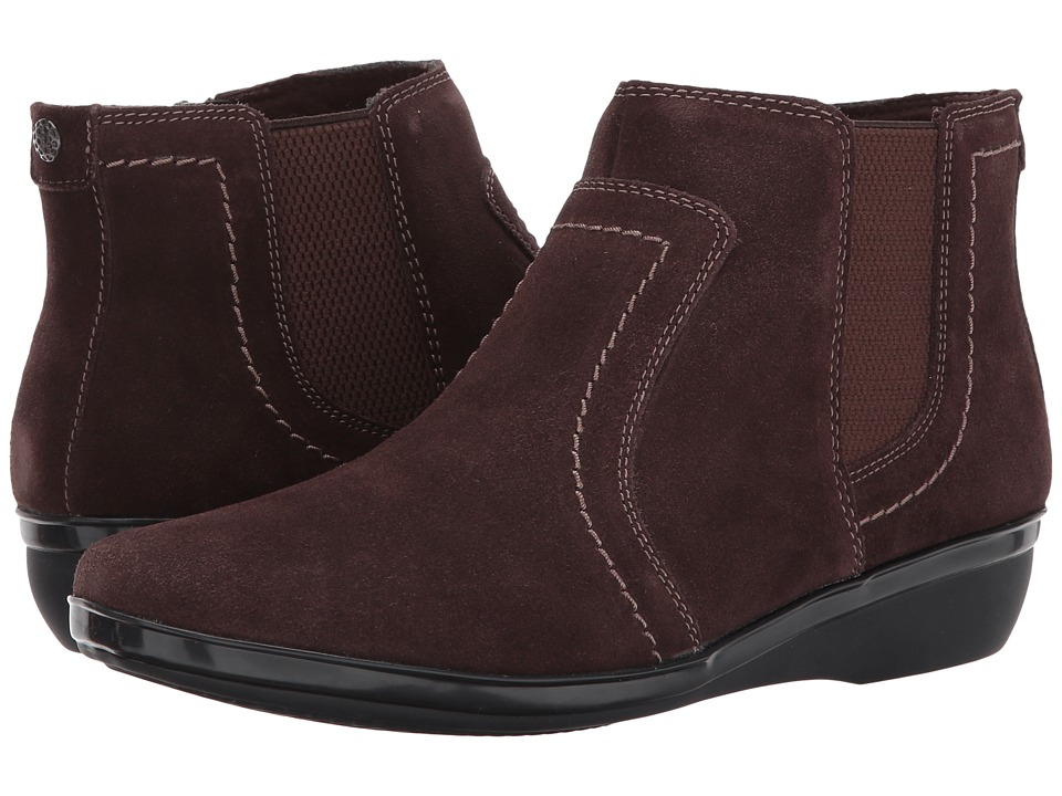 Clarks Everlay Leigh (Dark Brown Suede) Women