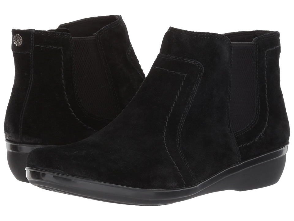 Clarks Everlay Leigh (Black Suede) Women