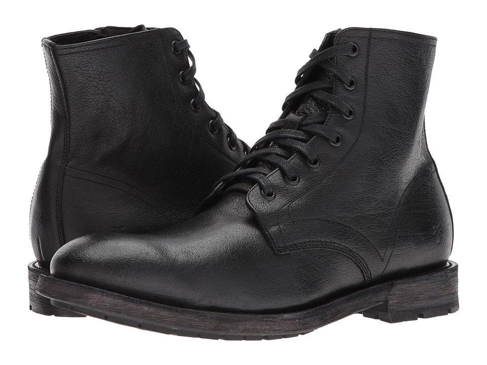 Frye Bowery Lace-Up (Black Buffalo Leather) Men
