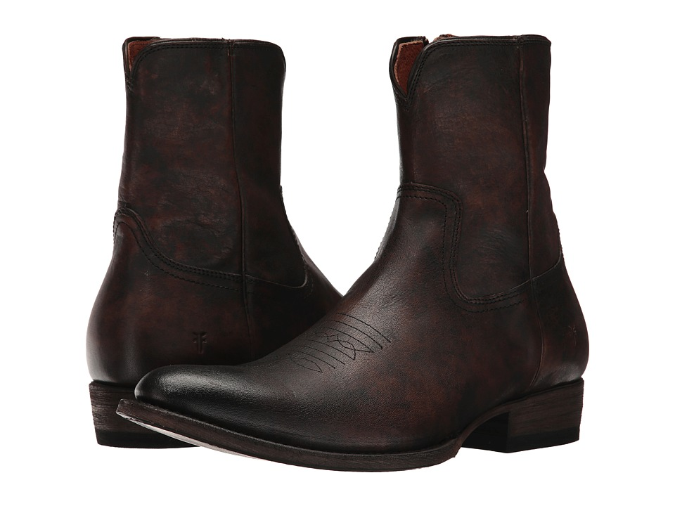 Frye Austin Inside Zip (Cognac Full Grain Brush-off) Men