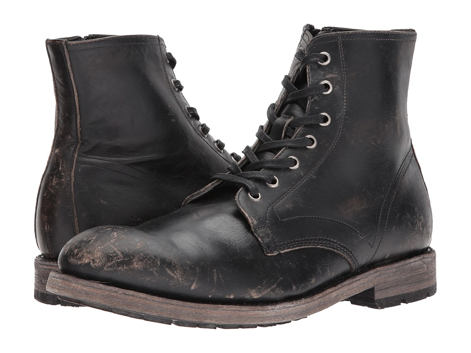Frye Bowery Lace-Up (Black Stonewash) Men