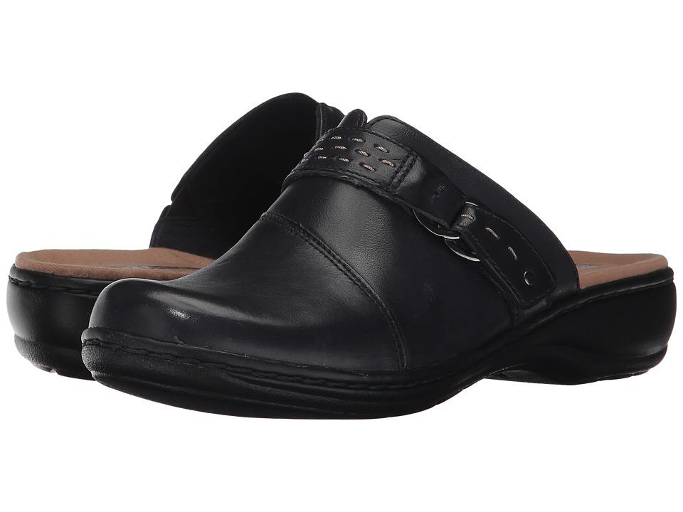 Clarks Leisa Sadie (Navy Leather) Clogs