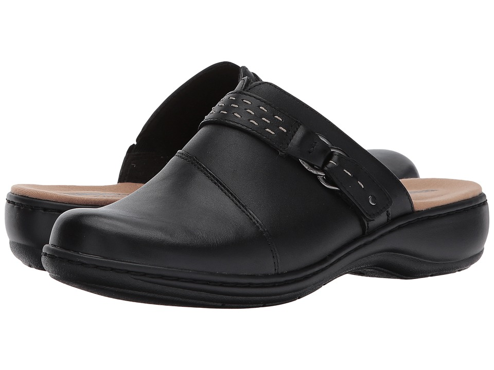 Clarks Leisa Sadie (Black Leather) Clogs