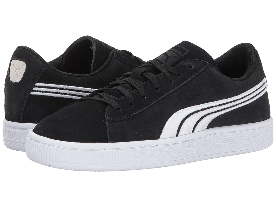 Puma Kids - Suede Classic Badge Jr (Big Kid) (Puma Black/Puma White) Boys Shoes