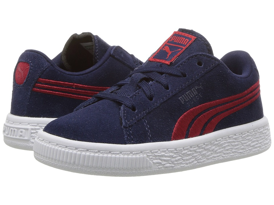 Puma Kids Suede Classic Badge (Toddler) (Peacoat/Toreador) Boys Shoes