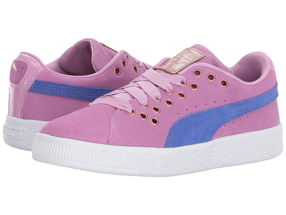 Puma Kids - Suede XL Lace VR (Little Kid/Big Kid) (Smoky Grape/Baja Blue) Girls Shoes