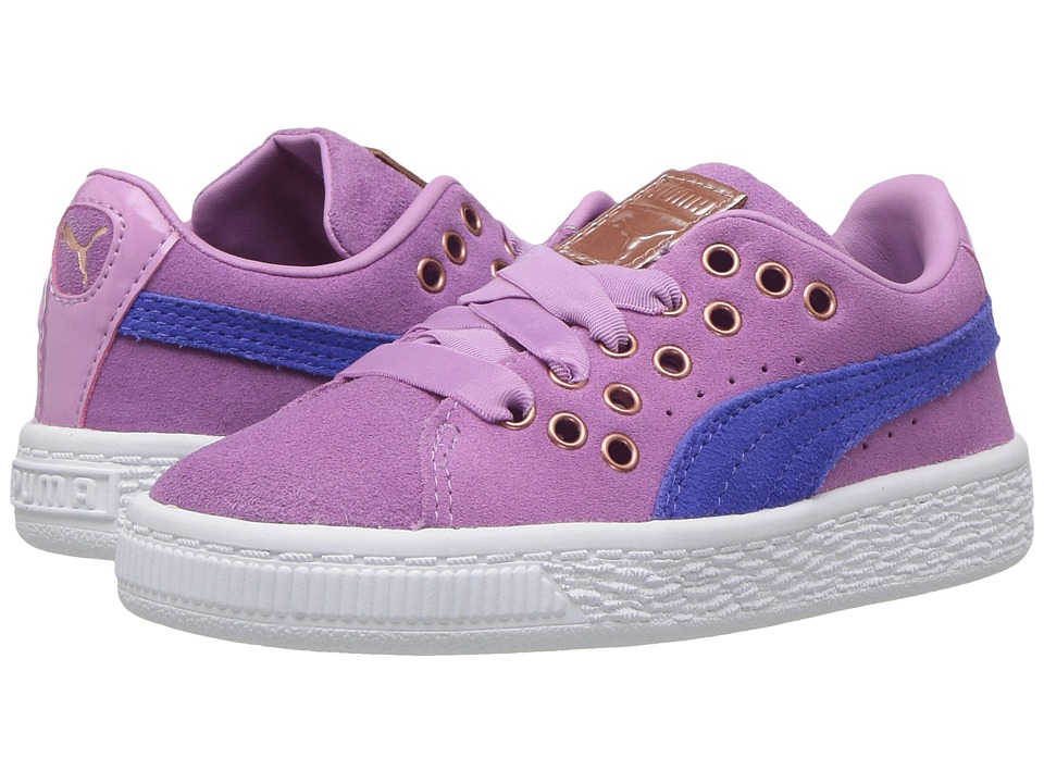 Puma Kids - Suede XL Lace VR (Toddler) (Smoky Grape/Baja Blue) Girls Shoes