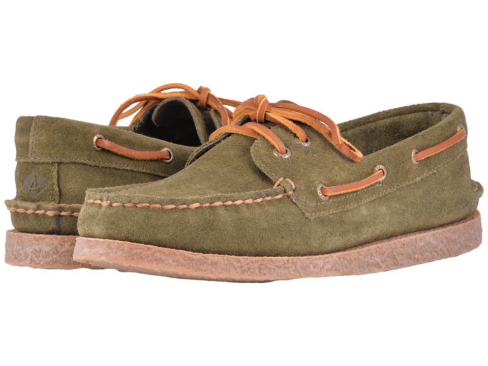 Sperry A/O 2-Eye Suede (Olive) Men