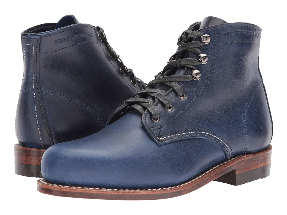 Wolverine Original 1000 Mile Boot (Dark Blue Leather) Women's Work Boots