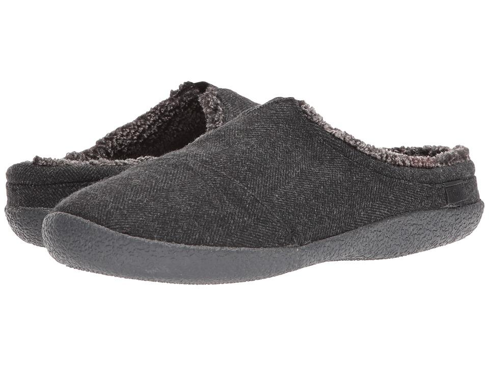 TOMS Berkeley Slipper (Black Herringbone Woolen) Men