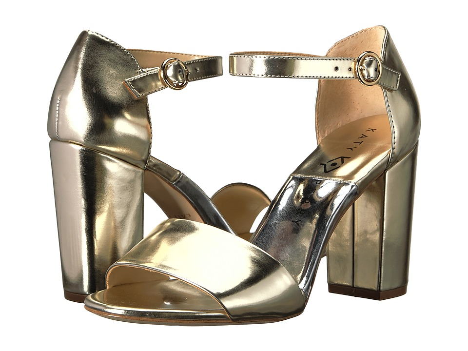 1960s Style Shoes Katy Perry - The Liz Gold Patent Womens Shoes $69.99 AT vintagedancer.com
