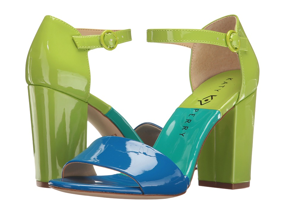 1960s Style Shoes Katy Perry - The Liz Ocean Blue Patent Womens Shoes $79.99 AT vintagedancer.com
