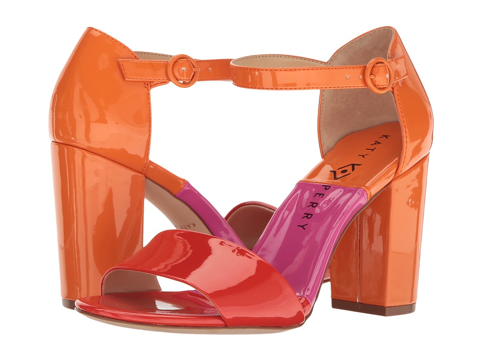 1960s Style Shoes Katy Perry - The Liz RedOrange Patent Womens Shoes $69.99 AT vintagedancer.com
