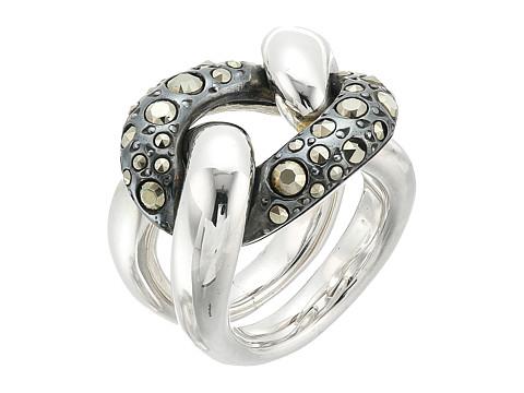 Pomellato 67 A.B227MA/A Gourmette Ring - Silver/Marcasite