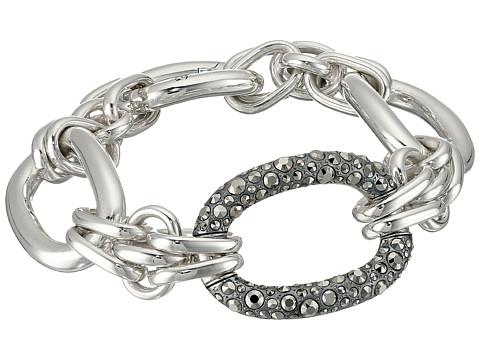 Pomellato 67 19cm 3 Link Oval Bracelet - Silver/Marcasite