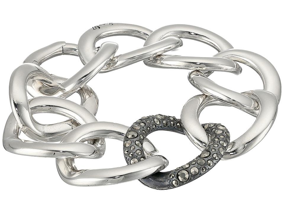 Pomellato 67 - B.B224MA/A Gourmette Bracelet (Silver/Marc...