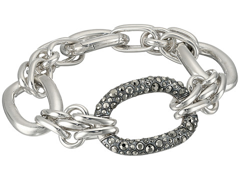 Pomellato 67 B.B312/MA/A/20 20cm 3 Link Oval Bracelet - Silver/Marcasite