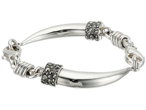Pomellato 67 B.B223MA/A Gourmette Dente Bracelet - Silver/Marcasite
