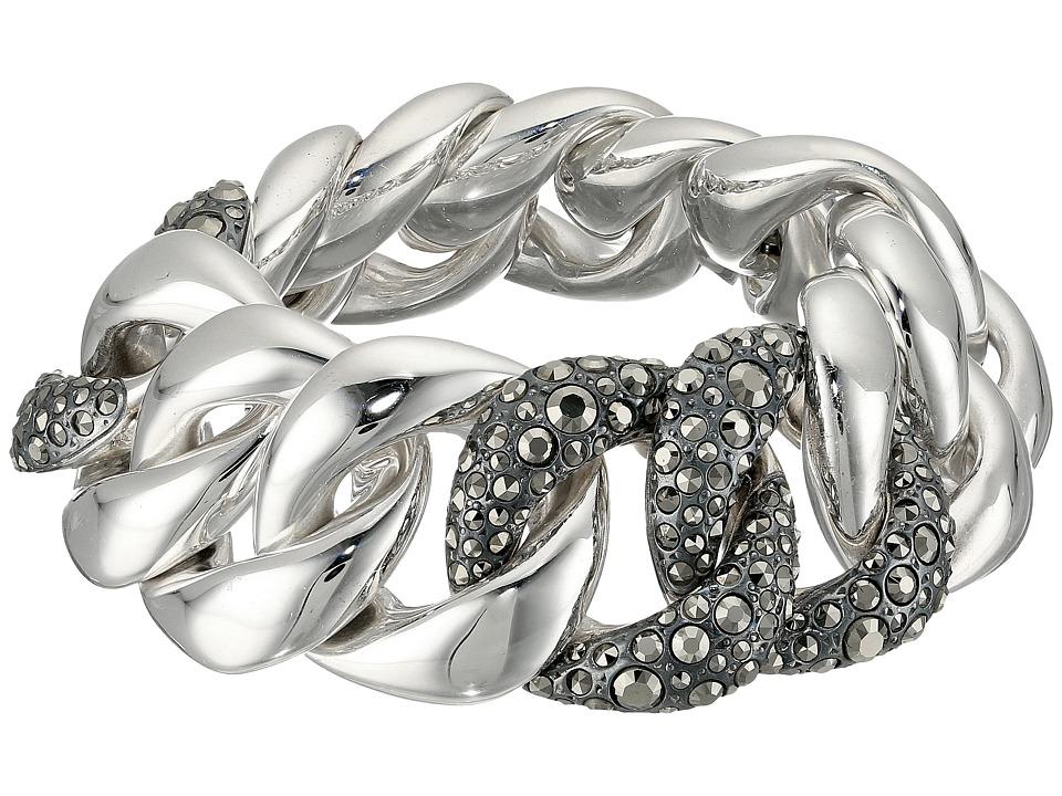 Pomellato 67 - Gourmette 3 Link Bracelet (Silver/Marcasit...