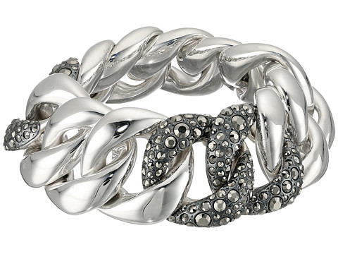 Pomellato 67 Gourmette 3 Link Bracelet - Silver/Marcasite