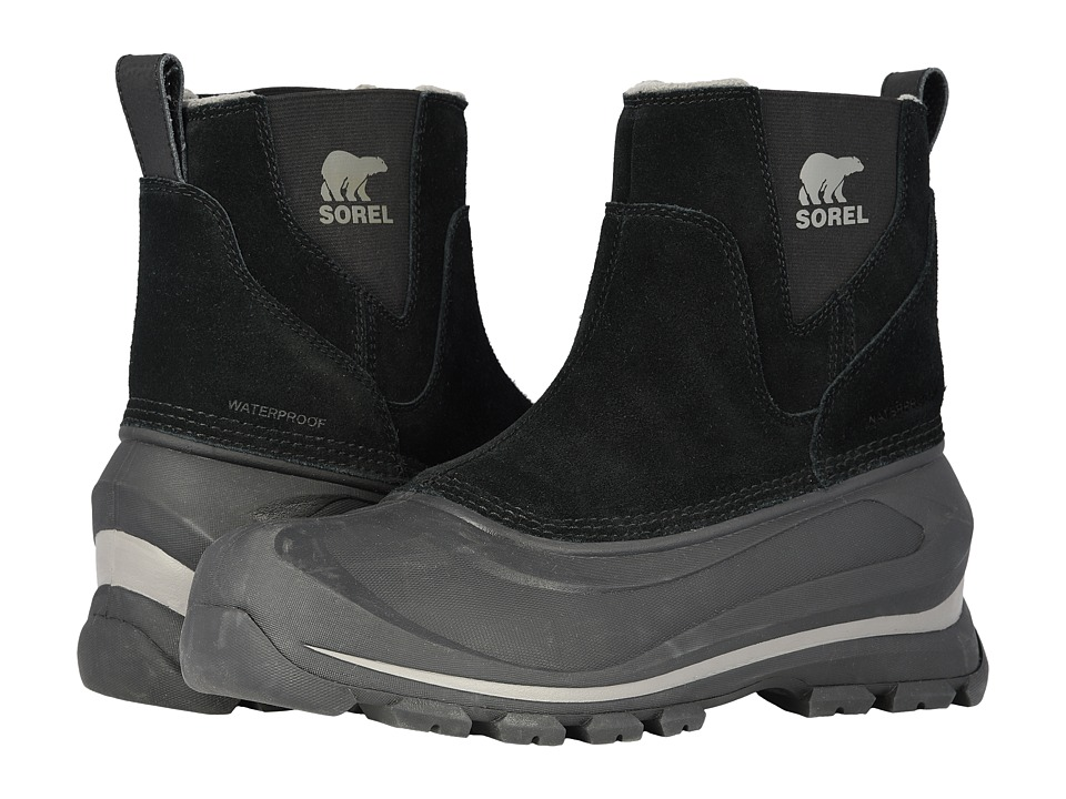 SOREL - Buxton Pull On (Black/Quarry) Mens Waterproof Boots