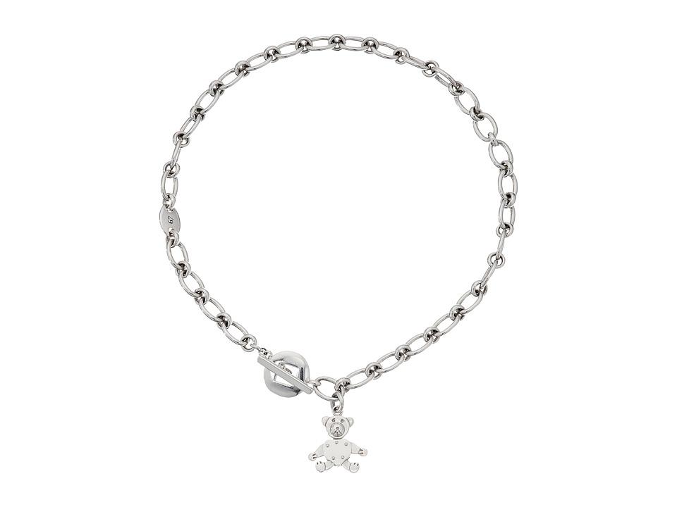 Pomellato 67 - Teddy Bear T-Bar Necklace 44cm (Silver) Ne...