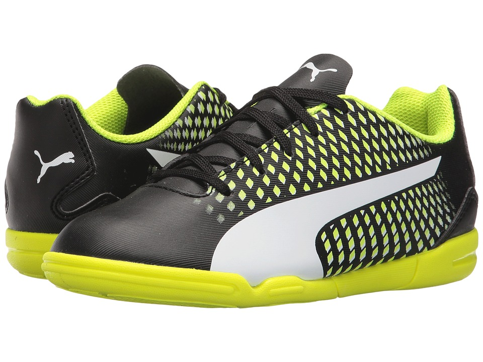 Puma Kids Adreno III IT (Toddler/Little Kid/Big Kid) (Puma Black/Puma White/Safety Yellow) Kids Shoes