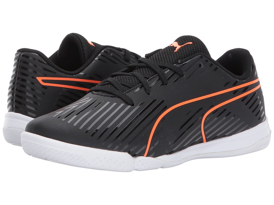 Puma Kids - evoSPEED Star S2 (Little Kid/Big Kid) (Puma Black/Shocking Orange/Quiet Shade/Puma White) Kids Shoes
